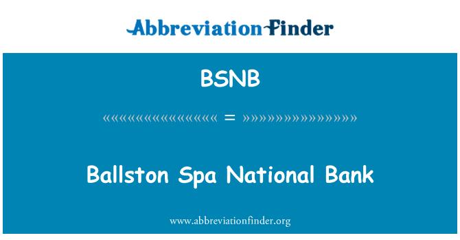 BSNB: Ballston Spa National Bank