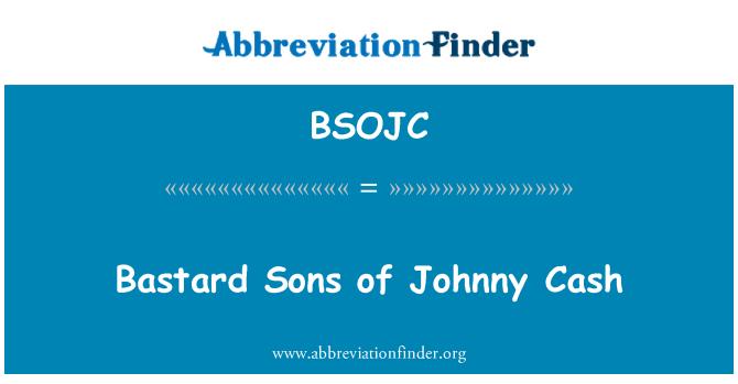 BSOJC: Bastard Sons of Johnny Cash