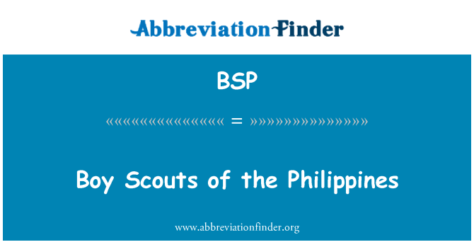 BSP: Boy Scouts of the Philippines