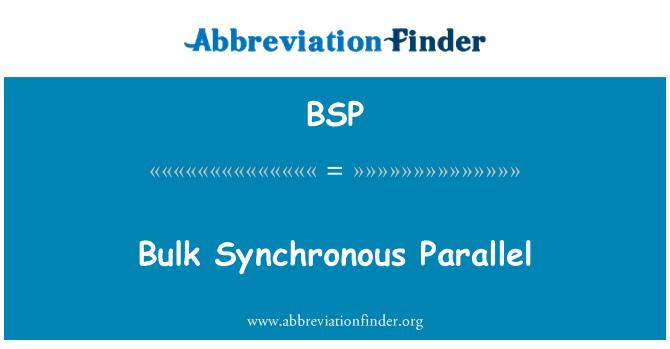 BSP: Bulk Synchronous Parallel