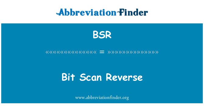 BSR: Bit Scan Reverse
