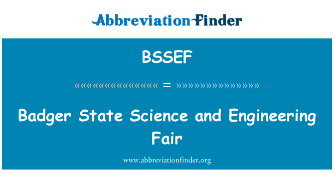 BSSEF: Badger State Science and Engineering Fair