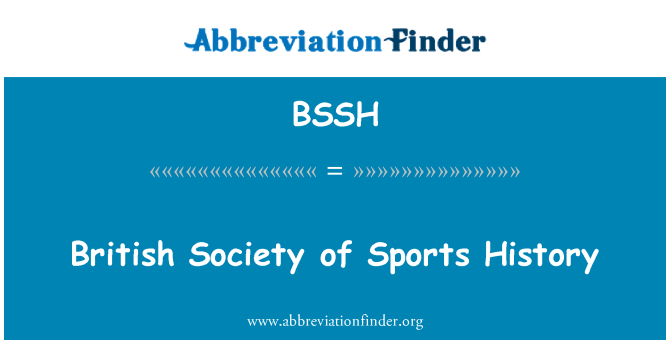 BSSH: British Society of Sports History