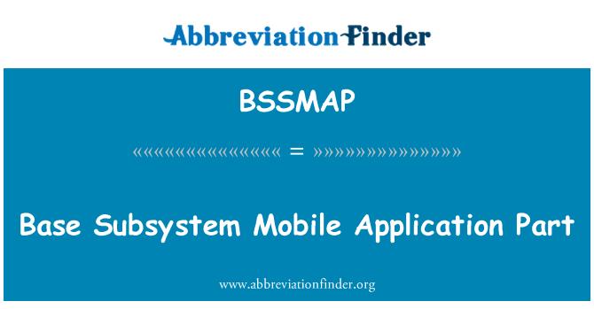 BSSMAP: Subsistema base parte de aplicación móvil