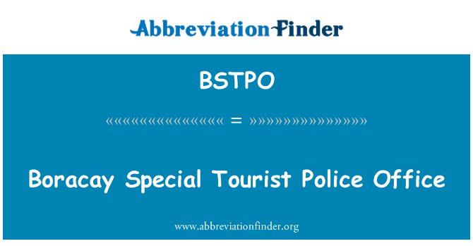 BSTPO: Boracay Special Tourist Police Office