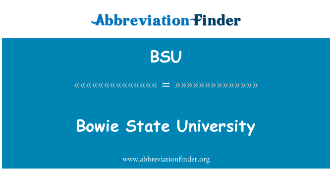 BSU: Bowie State University