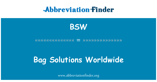 BSW: Bag Solutions Worldwide