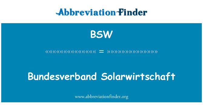 BSW: Bundesverband Solarwirtschaft
