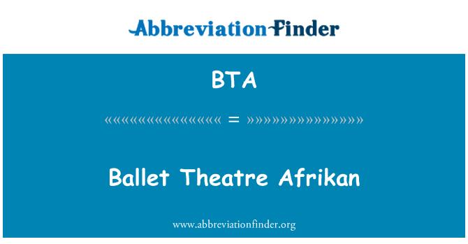 BTA: Ballet Theatre Afrikan