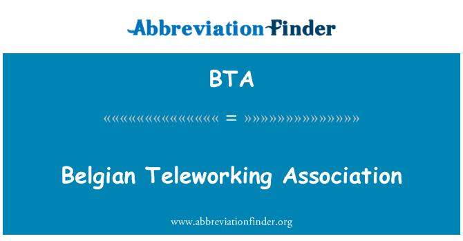 BTA: Belgian Teleworking Association