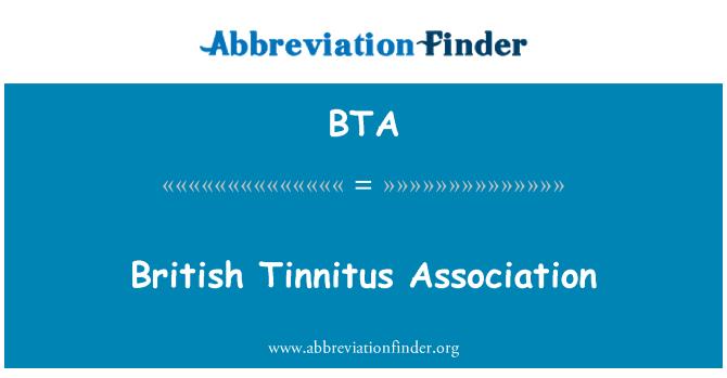 BTA: British Tinnitus Association