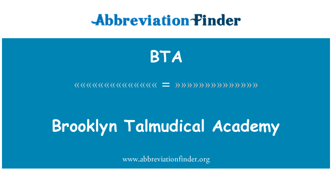 BTA: Brooklyn Talmudical Academy