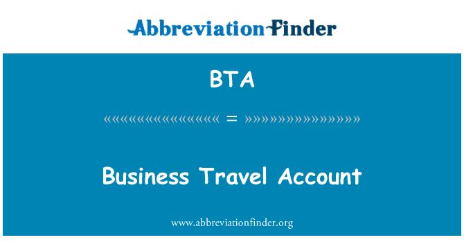 BTA: Business Travel Account