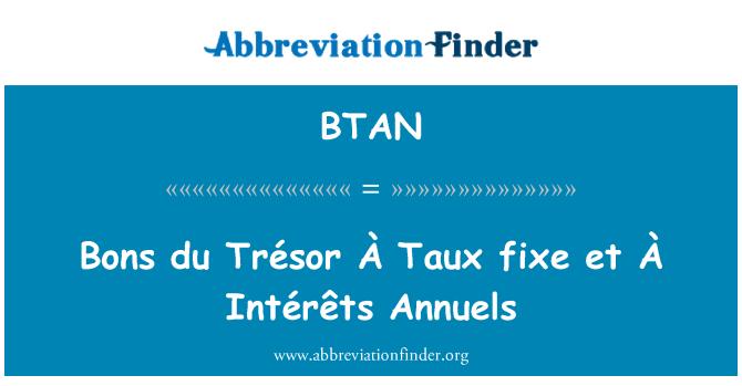 BTAN: Bons du Trésor À Taux fixe et À Intérêts anuales