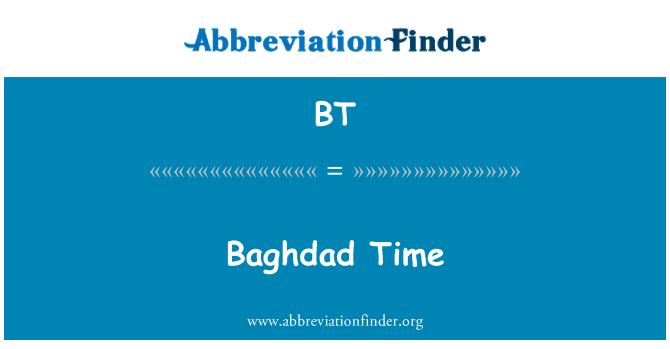 BT: Baghdad Time