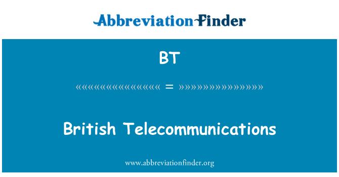 BT: British Telecommunications