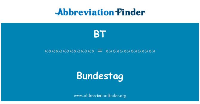BT: Bundestag