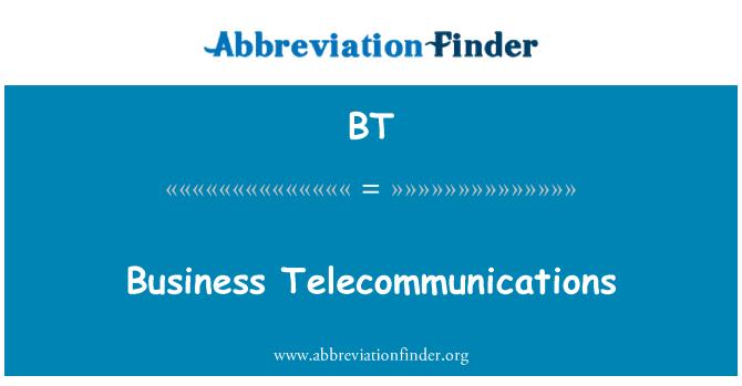 BT: Business Telecommunications