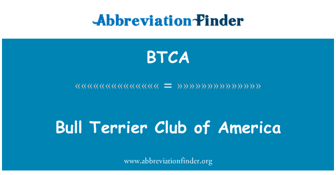 BTCA: Bull Terrier Club of America