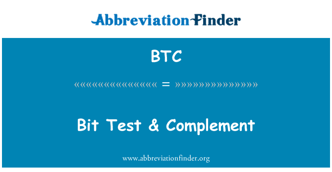 BTC: Bit Test & Complement