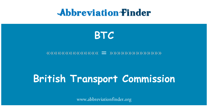 BTC: British Transport Commission