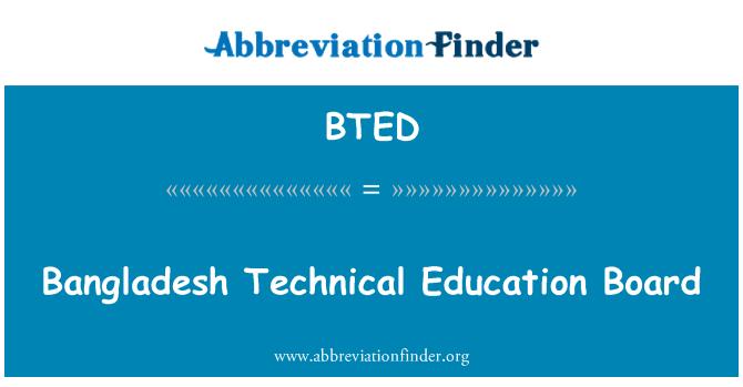 BTED: Bangladesh Technical Education Board