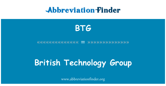 BTG: British Technology Group