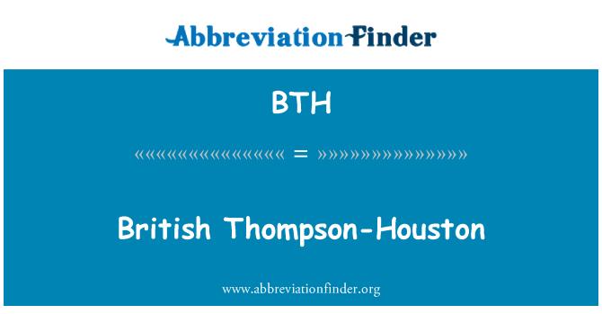 BTH: British Thompson-Houston