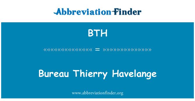 BTH: Bureau Thierry Havelange