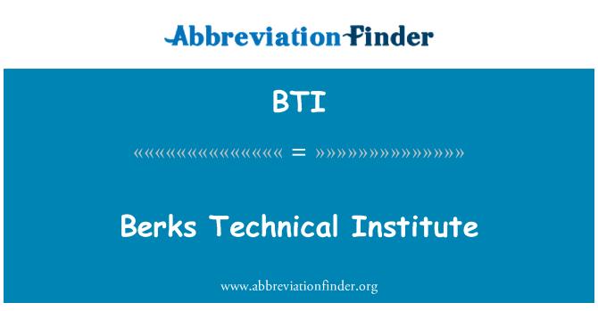 BTI: Berks Technical Institute