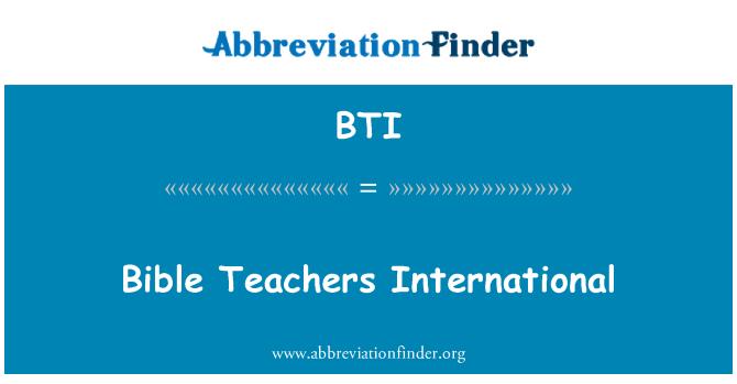 BTI: Bible Teachers International
