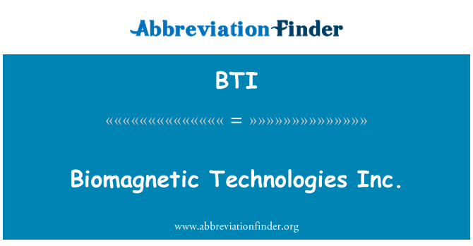 BTI: Biomagnetic Technologies Inc.
