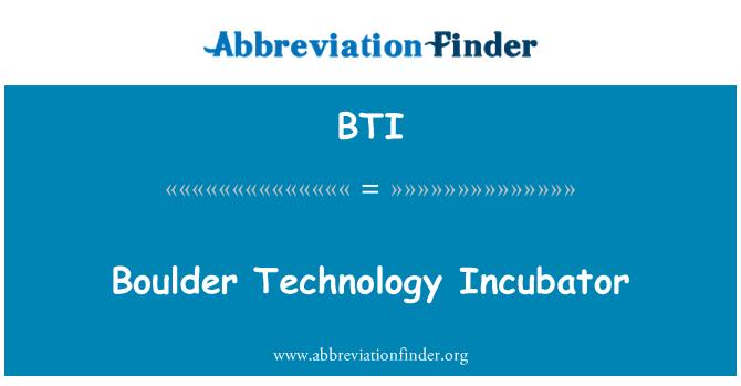 BTI: Boulder Technology Incubator