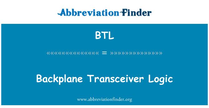 BTL: Backplane Transceiver Logic