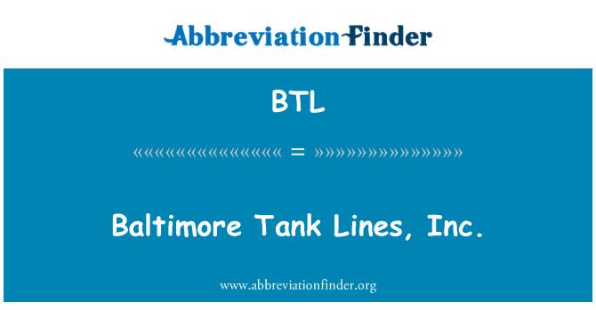 BTL: Baltimore Tank Lines, Inc.