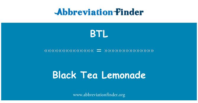 BTL: Black Tea Lemonade