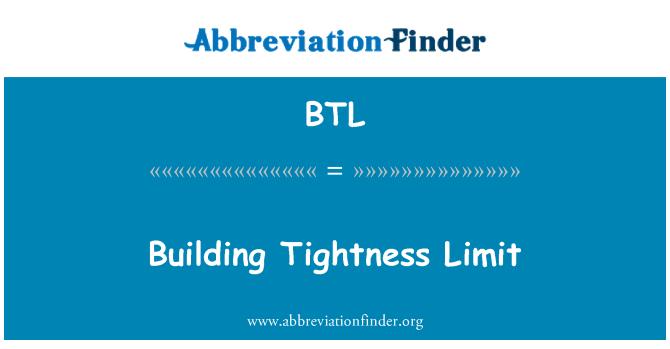 BTL: Building Tightness Limit
