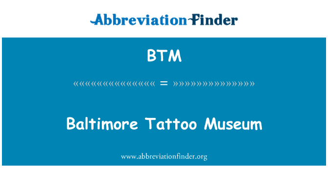 BTM: Baltimore Tattoo Museum
