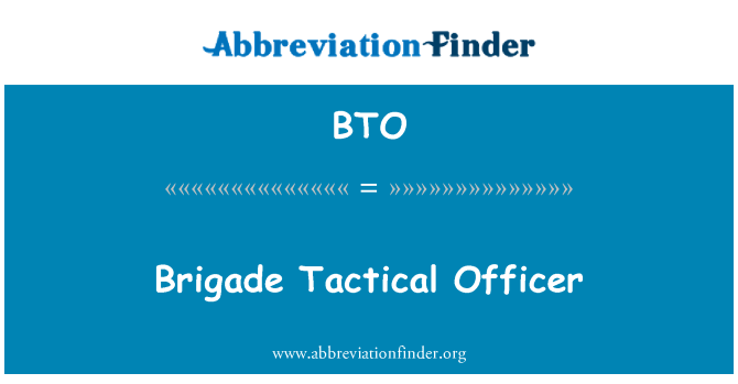 BTO: Brigade Tactical Officer