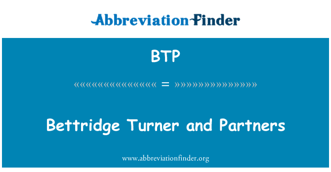 BTP: Bettridge Turner and Partners