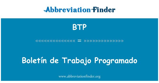 BTP: Boletín de Trabajo Programado