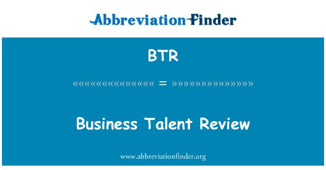BTR: Business Talent Review