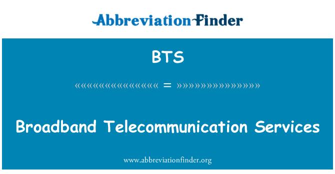 BTS: Broadband Telecommunication Services
