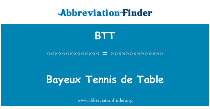 BTT: Bayeux Tennis de Table