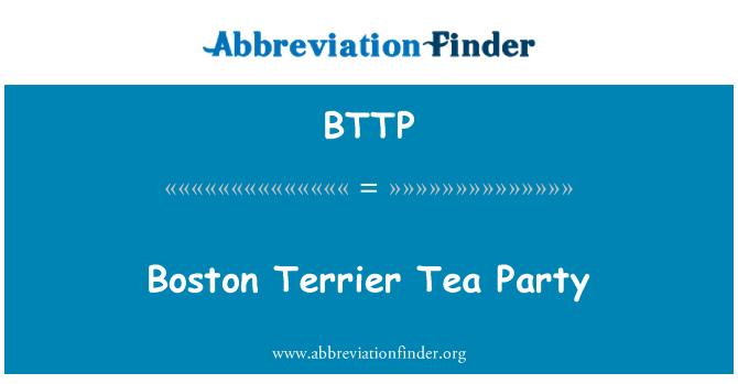 BTTP: Fiesta del té de Boston Terrier
