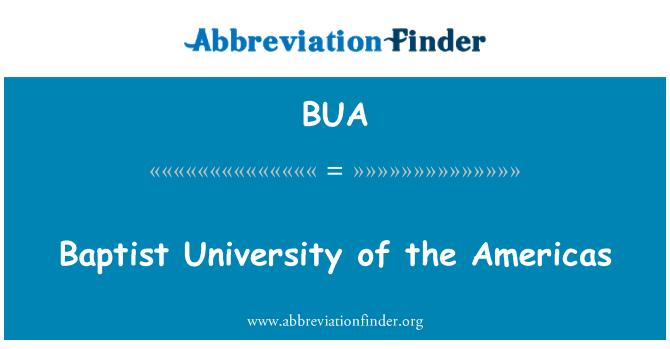 BUA: Baptist University of the Americas
