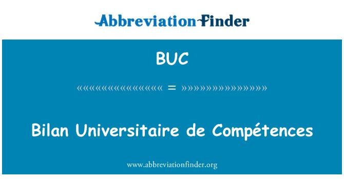 BUC: Bilan Universitaire de Compétences