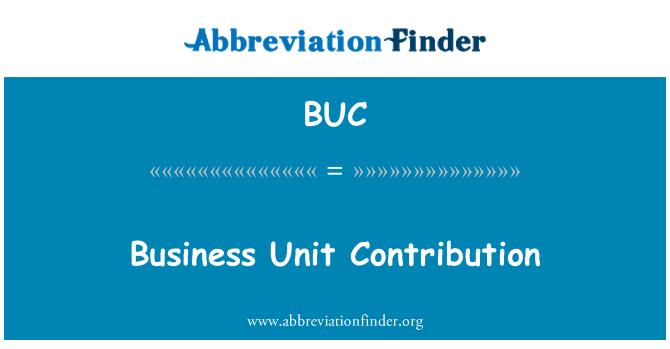BUC: Business Unit Contribution