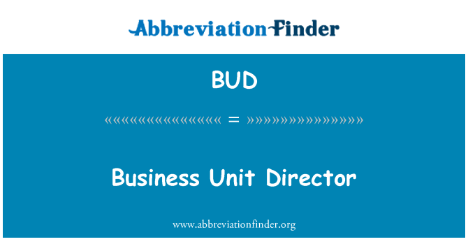 BUD: Business Unit Director