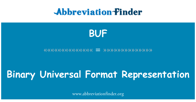 BUF: Format binari Universal perwakilan